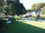 Outside is beautiful weather