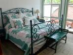 Third bedroom has king sized bed, en suite bath and private patio.