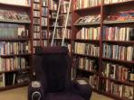 Upstairs Loft Library with Massage Chair