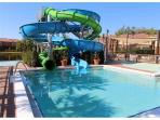 New water slides at the pool area