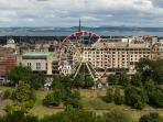 Princes Street as seen from the apartment