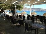 Family-run cafe/restaurant by the sea. Sunbeds & umbrella on the beach FREE for cafe clients