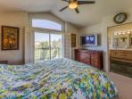 Master bedroom opens to a private balcony, cable TV, as well as a private bathroom.