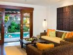 Living room + privet garden+dip pool
