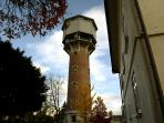 Water tower from our court yard