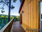 Upper deck along side of the cabin