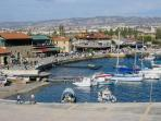Picturesque Pafos harbour just minutes walk away.