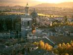 Aerial view of Uzes