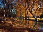 A pretty autumn walk along the Eure in Uzes