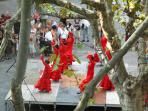 Sevillanas - part of the summer entertainment in Place aux Herbes