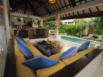Breezy Living Pavilion with Lovely Hardwood floors