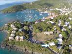 Cruz Bay town is just 2 blocks away...convenient for dining & bars.