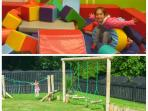 On site under 5s soft play and outdoor play area