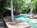 Beautiful Lagoon pool Heated in the cooler months