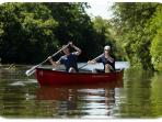 Canoeing here at the farm, explore the amazing River Brue and Somerset Levels