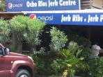 mouth watering ocho  rios jerk centre only 5 minutes away