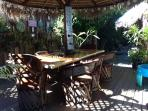 Palapa off kitchen with seating for 8-10