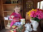 It's tea time in the dollhouse!