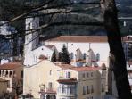 Vista panorámica del pueblo des del jardín botánico, Can Muntanyà.