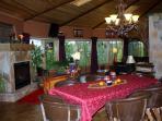 Breakfast dining area in the Innkeeper suite.