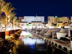 Vilamoura Marina at night 10 min drive away