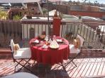 petit-déjeuner sur la terrace