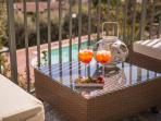 Aperitivo time on the terrace, get Elva's secret Spritz Aperol recipe