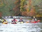 CANOEING, KAYAKING, STAND-UP PADDLEBOARDING, WHITEWATER RAFTING AND RAFT BUILDING IN THE BRECON BEAC
