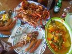 Have any seafood you like with a cold beer...Taste! !!!
