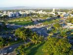 Aerial view of New Kingston and Emancipation Park