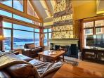 Stunning Living Room has Vaulted Ceilings and a Beautiful Mountain View