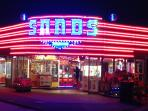 Night time at the amusements in Beach Road Hemsby Just a short stroll from you holiday Home