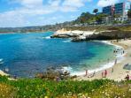 La Jolla Cove 10 min away