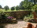 South facing garden, private, enclosed with wonderful views.