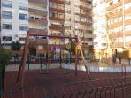 Kid´s playground, just in front door of the building