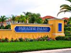 Paradise Palms Resort Entrance