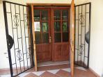 Secure, gated entrance