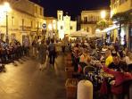Main square in Pizzo at night