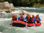 Rafting et canoe-kayac sur la Durance à 4Km de la maison