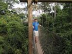 Kakum is the only park in Africa with a canopy walkway. It's a beautiful and easy hike up through th