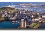 Vue aérienne de Saint-Malo.