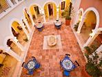 Hacienda Kukulkan Central Courtyard Main villa