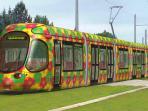 Superbe tram 'lacroix' pour le centre de Montpellier station 'Le Sablassou'(3,5kms)