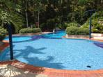 kids heated pool with jacuzzi and slide2