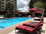 adult heated pool newly renovated and new furniture