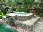 Jacuzzi and waterfall feature
