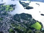 Aerial Shot of Bowness on Windermere