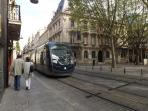 Take a tram ride into the historic city of Bordeaux
