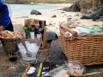Picnic time at the 'secret beach'