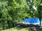 front  garden +  swimming  pool 3.50 m in diametre